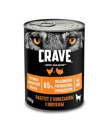 CRAVE Adult Pastete mit Huhn & Truthahn 24 x 400g