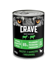 CRAVE Pastete mit Lamm & Rind 24 x 400g