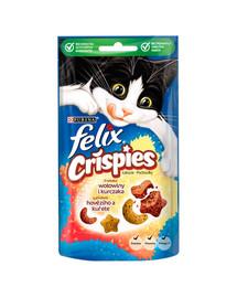 FELIX Crispies mit Rind- und Hühnerfleischgeschmack 8x45 g