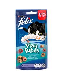 FELIX Play Tubes Katzensnack mit Fisch- und Garnelengeschmack 8x50 g