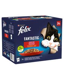 FELIX Fantastic So gut wie es ausssieht mit Rind, Kaninchen, Lamm, Huhn 96x85g