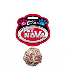 PET NOVA DOG LIFE STYLE Superdental Ball-Baumwollseil 5 cm