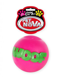 PET NOVA DOG LIFE STYLE Kauspielzeug Ball WOOF 8cm rosa