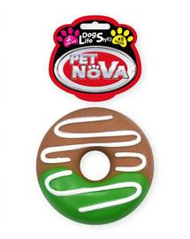PET NOVA DOG LIFE STYLE Hundespielzeug Kauspielzeug Donut mit Glasur 10cm