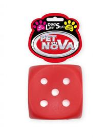 PET NOVA DOG LIFE STYLE Würfel Hundespielzeug 6cm Rot