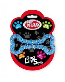 PET NOVA DOG LIFE STYLE Kauspielzeug Seil Knochen Minze Aroma 20cm Blau