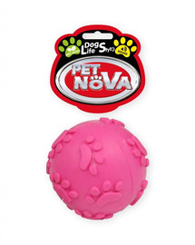 PET NOVA DOG LIFE STYLE Kauspielzeug Ball mit Tone Minze Aroma 6cm rosa
