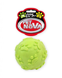 PET NOVA DOG LIFE STYLE Kauspielzeug Ball mit Tone Minze Aroma 6cm gelb