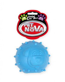 PET NOVA DOG LIFE STYLE Hundespielzeug Kauspielzeug Leckerlieball Minze Aroma 6,5cm Blau
