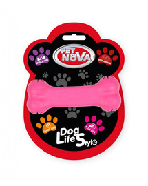 PET NOVA DOG LIFE STYLE Hundespielzeug Leckerlieknochen Rindfleisch Geschmack 11cm Rosa