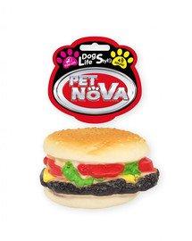 PET NOVA DOG LIFE STYLE Hundespielzeug Hamburger 9cm