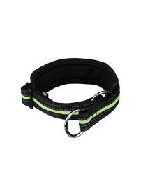 TRIXIE Fusion Zug-Stopp-Halsband, extra breit, S-M 33–39 cm/25 mm schwarz/grün