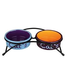 TRIXIE Keramik-Napf-Set Eat on Feet