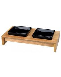 TRIXIE Napf-Set, Keramik/Holz 2 × 200 ml