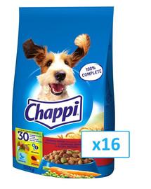 CHAPPI für Hunde mit Rindfleisch, Geflügel und Gemüse 500g x16