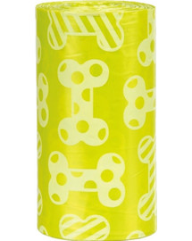 TRIXIE Hundekotbeutel mit Zitronenduft 4 Rollen à 20 St.