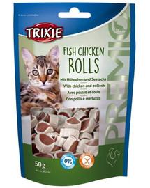 TRIXIE Premio Fish Chicken Rolls 50g