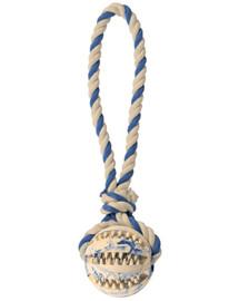TRIXIE Spieltau mit Ball, Naturgummi  ø 7 cm/24 cm