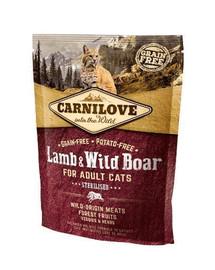 CARNILOVE Cat Adult Sterilised Lamb & Wild Boar 400 g
