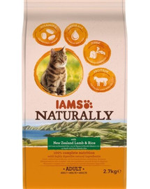 IAMS Naturally Adult Cat with New Zealand Lamb & Rice 2,7 kg