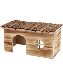 TRIXIE Kaninchenstall aus Holz mit hellbrauner Farbe 45×24×28cm