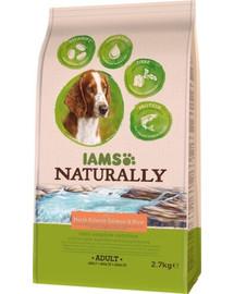 IAMS Naturally erwachsener Hund mit viel nordatlantischem Lachs & Reis 2,7 kg