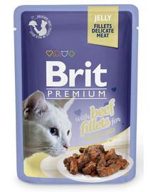 BRIT Premium Cat Fillets in Jelly Rind 85g