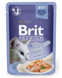 BRIT Premium Cat  Fillets in Jelly Lachs 85g