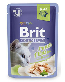 BRIT Premium Cat  Fillets in Jelly Forelle 85g
