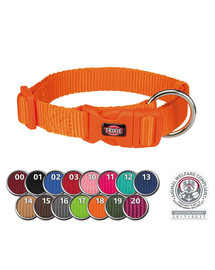 TRIXIE Premium Halsband, S–M: 30–45 cm/15 mm, papaya