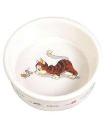TRIXIE Keramiknapf mit Comic-Katzenmotiv
