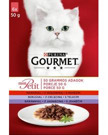 GOURMET Mon Petit mit Rind, Kalb, Lamm (6x50 g)