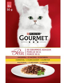 GOURMET Mon Petit mit Huhn, Ente, Truthahn (6x50 g)