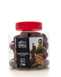 SIMPLY FROM NATURE Sausages with beef Würste mit Rind 300 g