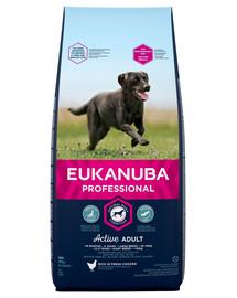 EUKANUBA Active Adult Large Breed Für ausgewachsene Hunde großer Rassen Huhn 18 kg