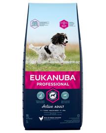 EUKANUBA PROFESSIONAL Für ausgewachsene Hunde mittelgroßer Rassen Reich an frischem Huhn 8 kg