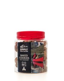 SIMPLY FROM NATURE Baked Cookies with Cranberry gebackene Kekse mit Moosbeere 220g