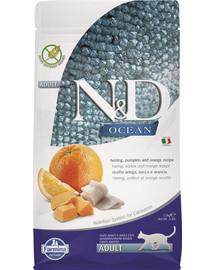 FARMINA N&D Ocean Katze Kabeljau, Dinkel, Hafer & Orange Adult 1,5 kg