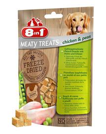 8in1 Meaty Treats Gefriergetrocknete Fleisch-Snacks mit Huhn & Erbsen 50 g