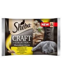 SHEBA Craft Collection Geflügelgeschmack - feuchtes Katzenfutter in Sauce (mit Geflügel, Huhn, Pute, Ente) 52x85g