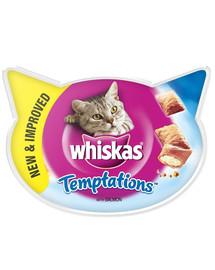 WHISKAS Temptations für die Katze mit Lachs 60 g x 8