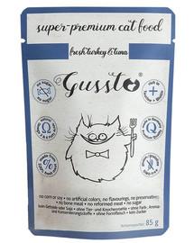 GUSSTO Cat Fresh Turkey&Tuna FRISCHES TRUTHAHN UND THUNFISCH 85 g
