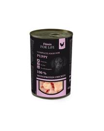 FITMIN For Life Puppy Monoprotein Welpenfutter nass getreidefrei mit Huhn 400 g
