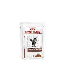 ROYAL CANIN Cat Gastro Intestinal Alleinfuttermittel für ausgewachsene Katzen 12x85 g