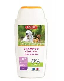 ZOLUX Entwirr Shampoo für alle Hunde mit langem Fell, ohne Paraben, 250 ml