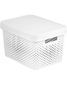 CURVER INFINITY Box mit Punktmuster, 17 L weiß