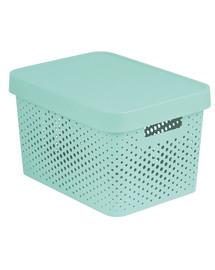 CURVER INFINITY Box mit Punktmuster, 17 L hellblau