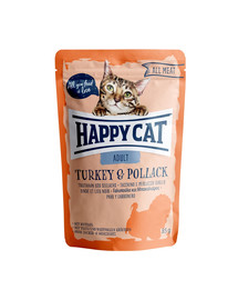 HAPPY CAT All Meat Adult Turkey & Pollack (Truthahn & Seelachs) 85 g