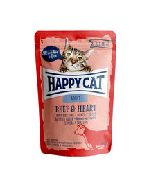 HAPPY CAT All Meat Adult Beef & Heart (Rind & Herz) 85 g