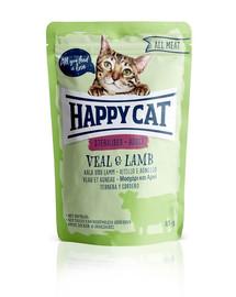 HAPPY CAT All Meat Adult Sterilised Kalb & Lamm 85 g